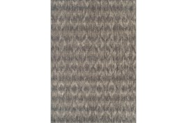 98X120 Outdoor Rug-Grey Distressed Damask
