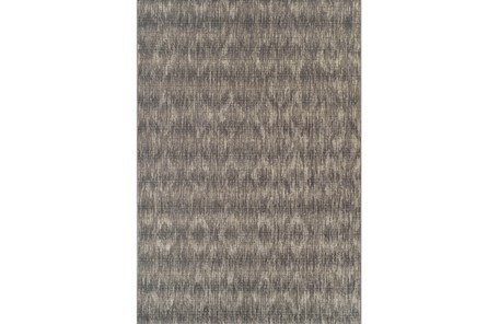 98X120 Outdoor Rug-Grey Distressed Damask - Main