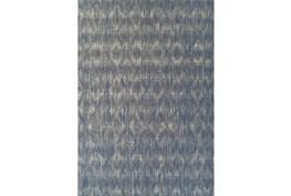 39X61 Outdoor Rug-Indigo Blue Distressed Damask