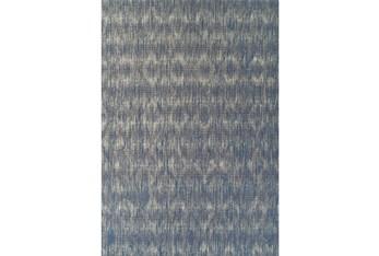 "8'2""x10' Outdoor Rug-Indigo Blue Distressed Damask"