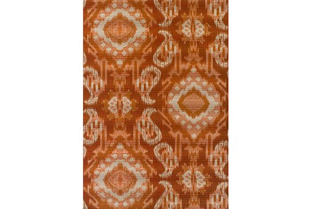 39X61 Outdoor Rug-Orange Large Ikat