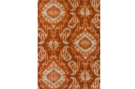 98X120 Outdoor Rug-Orange Large Ikat