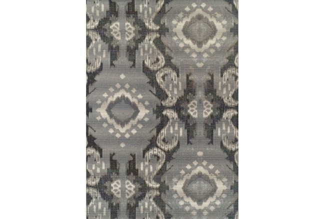 39X61 Outdoor Rug-Grey Large Ikat - 360