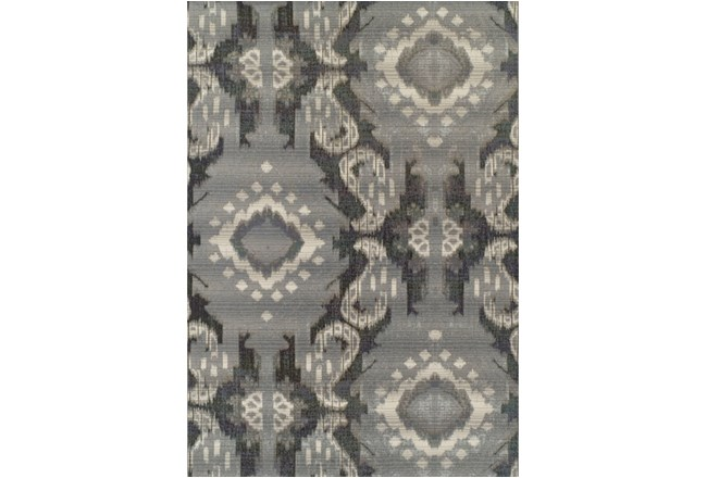 61X84 Outdoor Rug-Grey Large Ikat - 360