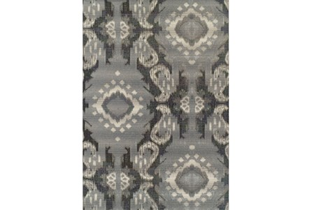 98X120 Outdoor Rug-Grey Large Ikat