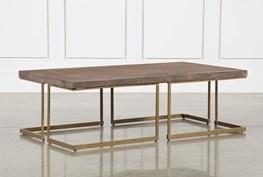 Reclaimed Pine & Iron Coffee Table