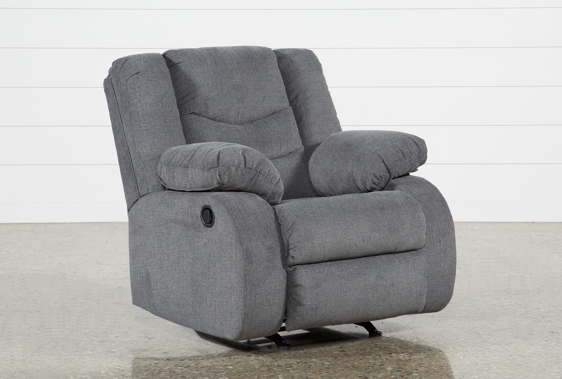 added to cart haines grey rocker recliner . haines grey rocker recliner  living spaces