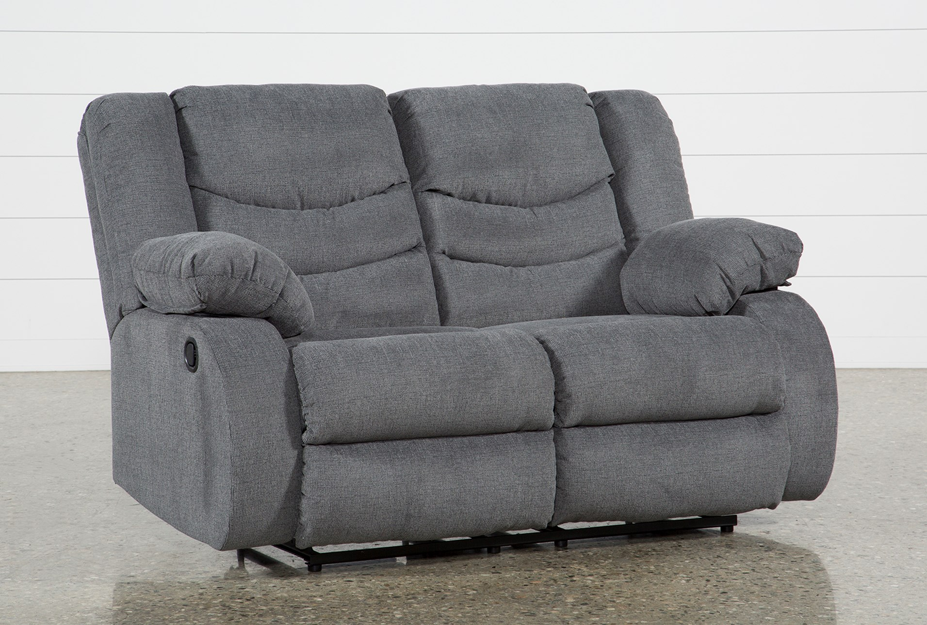 vacherie console wedge sofa open with dbl the black loveseat sectional reclining gray