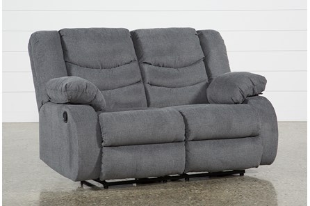 Haines Grey Reclining Loveseat - Main