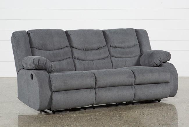 Haines Grey Reclining Sofa - 360