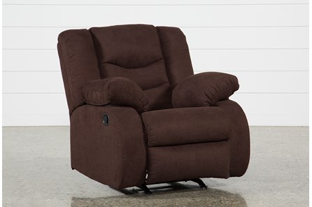 Haines Chocolate Rocker Recliner - Main