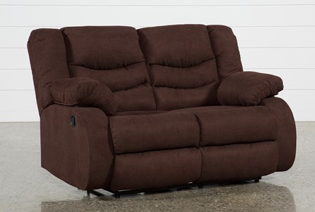 Haines Chocolate Reclining Loveseat