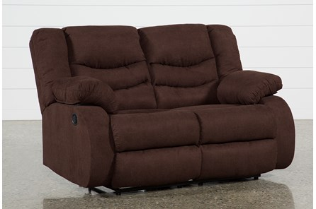 Haines Chocolate Reclining Loveseat - Main