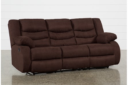 Haines Chocolate Reclining Sofa - Main