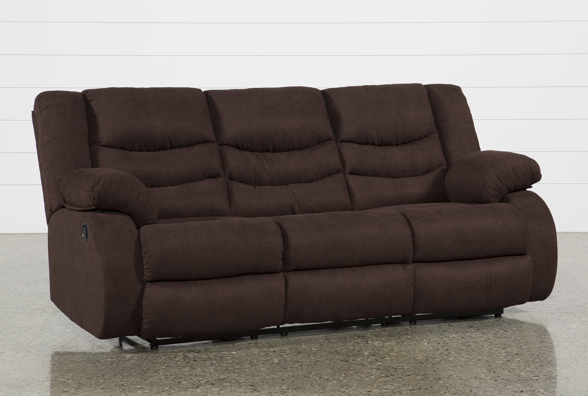Haines Chocolate Reclining Sofa