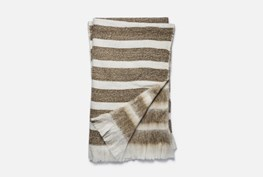 Accent Throw-Magnolia Home Duke White/Camel By Joanna Gaines