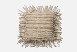 Accent Pillow-Magnolia Home Jute Stitching Fringe Grey 18X18 By Joanna Gaines