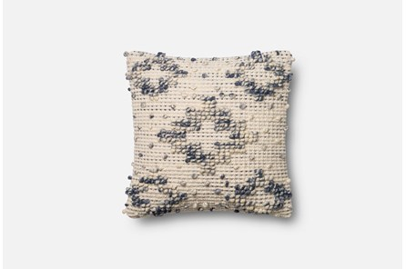 Accent Pillow-Magnolia Home Boucle Diamond Blue/Ivory 18X18 By Joanna Gaines - Main