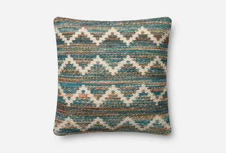 Accent Pillow-Magnolia Home Wool Flamestitch Multi 22X22 By Joanna Gaines