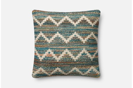 Accent Pillow-Magnolia Home Wool Flamestitch Multi 22X22 By Joanna Gaines - Main