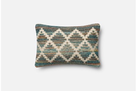Accent Pillow-Magnolia Home Wool Flamestitch Multi 13X21 By Joanna Gaines