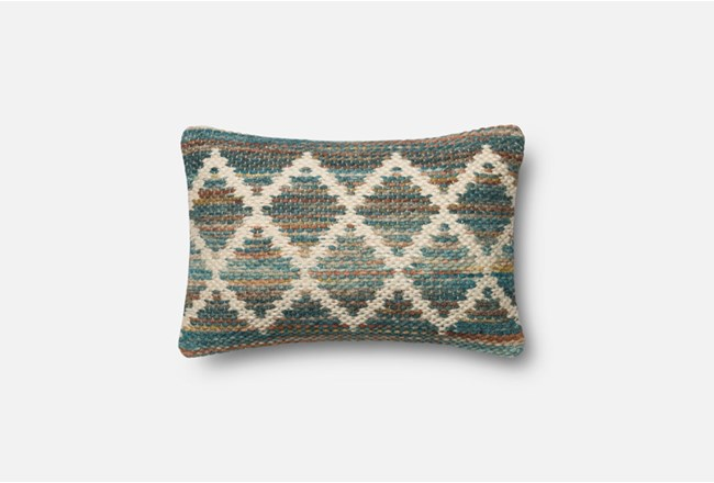 Accent Pillow-Magnolia Home Wool Flamestitch Multi 13X21 By Joanna Gaines - 360