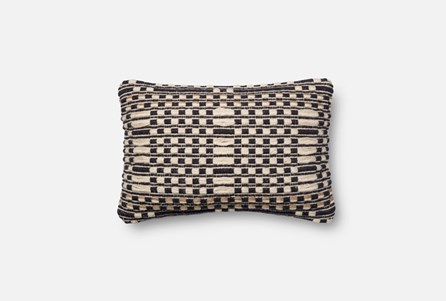 Accent Pillow-Magnolia Home Lattice Black/Tan 13X21 By Joanna Gaines
