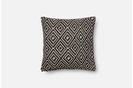 Accent Pillow-Magnolia Home Harlequin Black/White 18X18 By Joanna Gaines