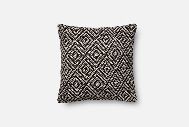 Accent Pillow-Magnolia Home Harlequin Black/White 18X18 By Joanna Gaines - 360