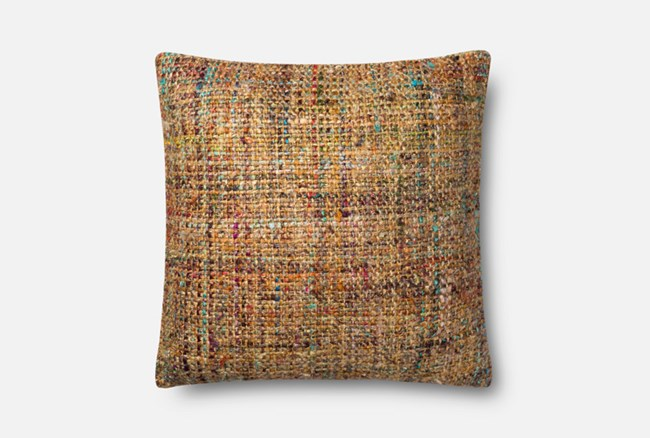 Accent Pillow-Magnolia Home Viscose Tweed Multi 22X22 By Joanna Gaines - 360
