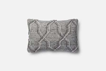 Accent Pillow-Magnolia Home Grey Diamond Cording 13X21 By Joanna Gaines