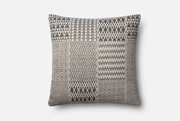 Accent Pillow-Magnolia Home Diamond Patchwork Black/White 22X22 By Joanna Gaines