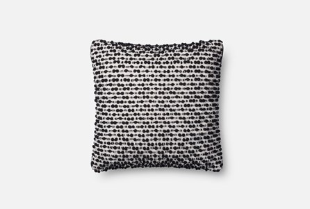 Accent Pillow-Magnolia Home White/Black Texture 18X18 By Joanna Gaines