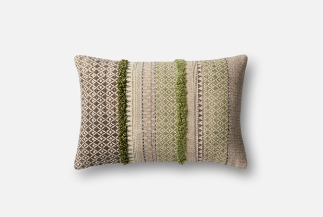 Accent Pillow-Magnolia Home Boho Boucle Sage/Grey 13X21 By Joanna Gaines - 360
