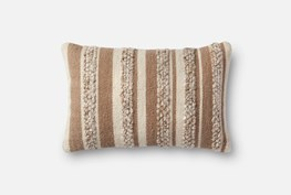 Accent Pillow-Magnolia Home Textured Stripes Beige/Ivory 13X21 By Joanna Gaines