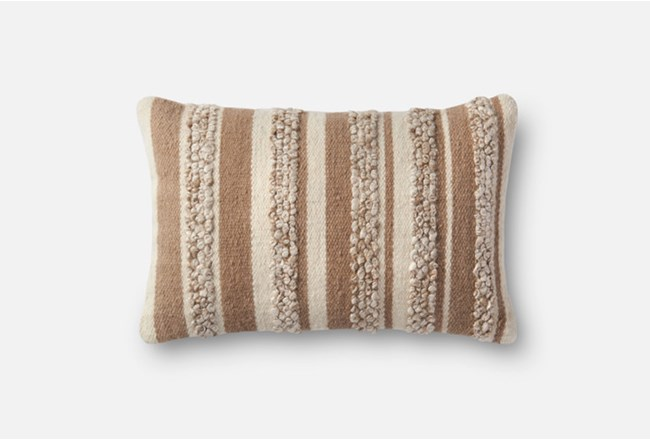 Accent Pillow-Magnolia Home Textured Stripes Beige/Ivory 13X21 By Joanna Gaines - 360