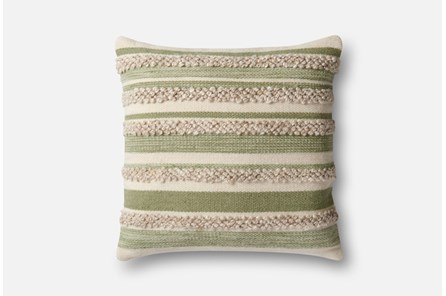 Accent Pillow-Magnolia Home Textured Stripes Sage/Ivory 22X22 By Joanna Gaines - Main