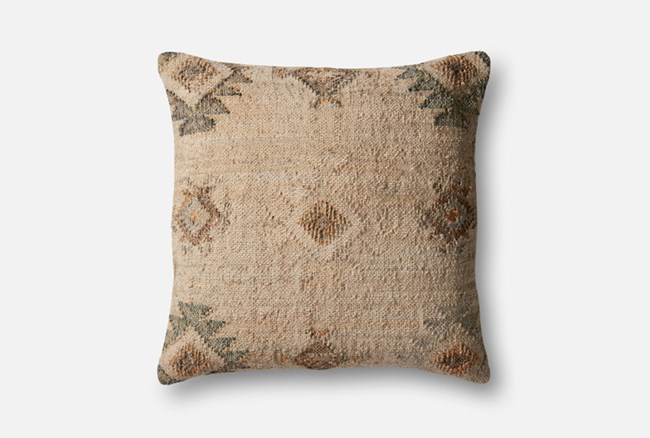 Accent Pillow-Magnolia Home Southwest Beige/Silver 22X22 By Joanna Gaines - 360
