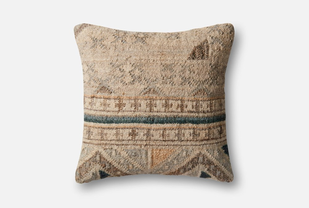 Accent Pillow-Magnolia Home Southwest Beige/Blue 22X22 By Joanna Gaines