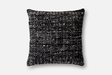Accent Pillow-Magnolia Home Daimond Black 22X22 By Joanna Gaines