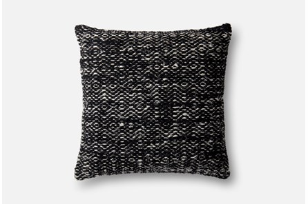 Accent Pillow-Magnolia Home Daimond Black 22X22 By Joanna Gaines - Main