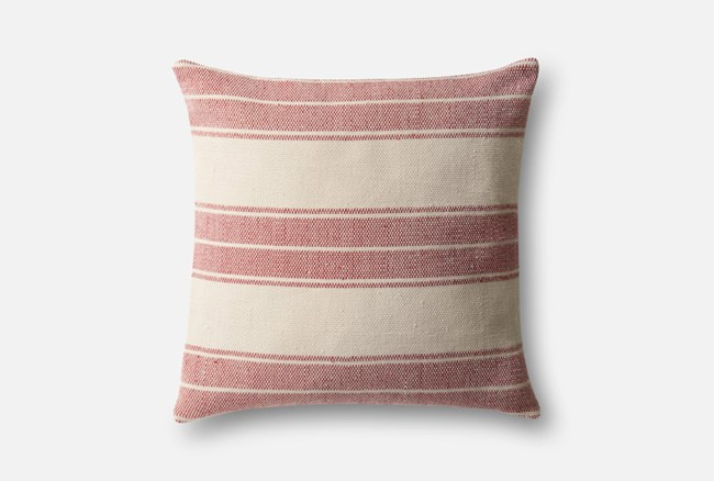 Accent Pillow-Magnolia Home Poly Red/Ivory 22X22 By Joanna Gaines - 360