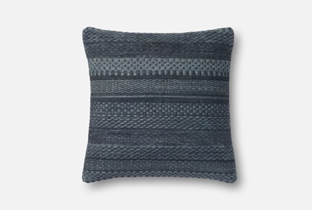 Accent Pillow-Magnolia Home Variated Stripes Denim 22X22 By Joanna Gaines