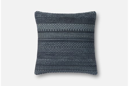 Accent Pillow-Magnolia Home Variated Stripes Denim 22X22 By Joanna Gaines - Main