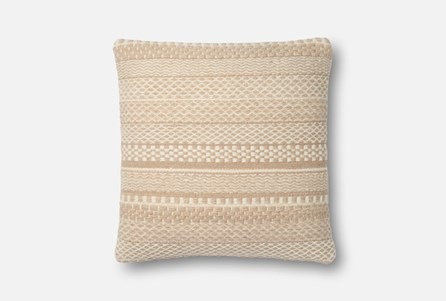 Accent Pillow-Magnolia Home Variated Stripes Straw 22X22 By Joanna Gaines
