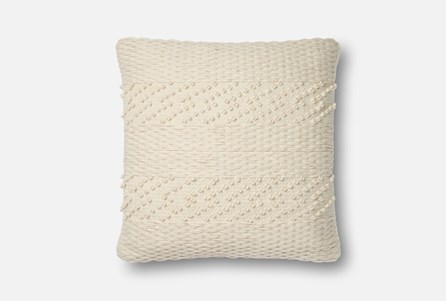 Accent Pillow-Magnolia Home Tonal Stripe Ivory 22X22 By Joanna Gaines