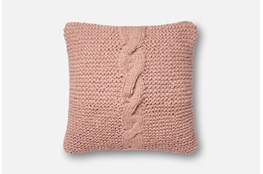 Accent Pillow-Magnolia Home Cableknit Blush 18X18 By Joanna Gaines