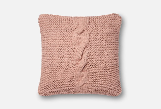 Accent Pillow-Magnolia Home Cableknit Blush 18X18 By Joanna Gaines - 360