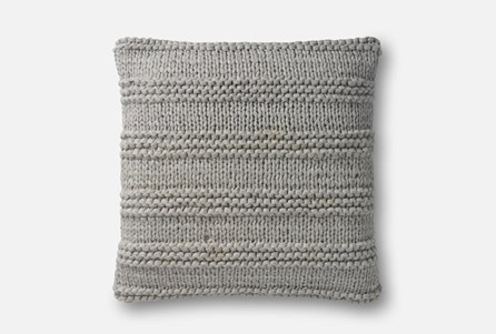 Accent Pillow-Magnolia Home Cableknit Stripe Grey 22X22 By Joanna Gaines