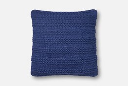 Accent Pillow-Magnolia Home Cableknit Stripe Navy 22X22 By Joanna Gaines